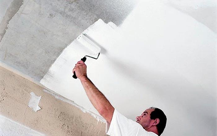 Как побелить потолок водоэмульсионной краской своими руками 60