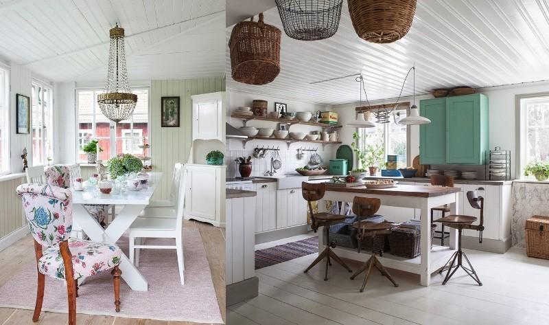 Интерьеры кухонь в стиле шебби шик