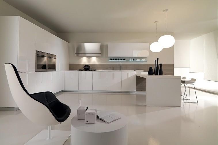 Стиль минимализм в интерьере кухня 51