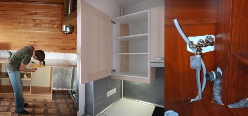 Сборка угловой кухни
