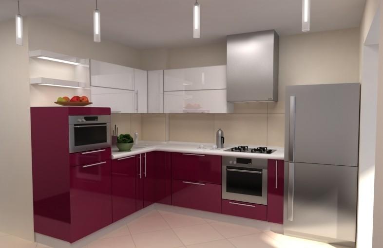 нестандартные угловые шкафы для кухни