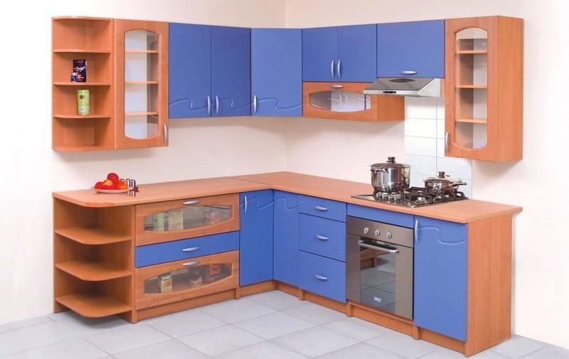 Кухня наборная синяя