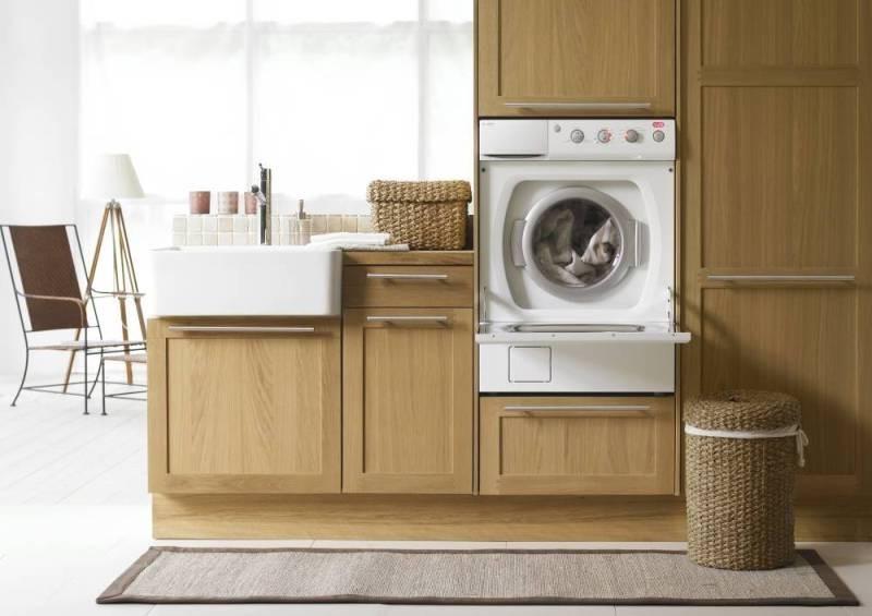 Встроенная в шкаф стиральная машина