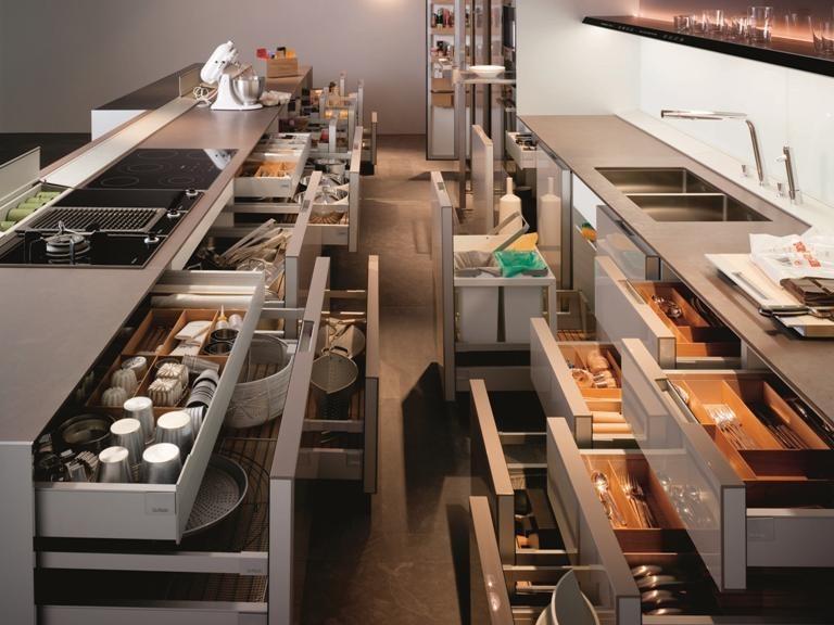 Удобные системы хранения на кухне