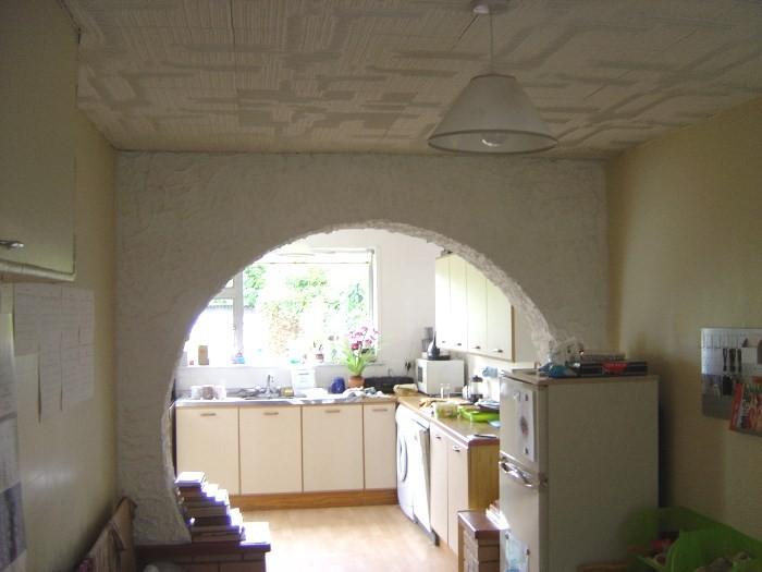 Арка при входе на кухню