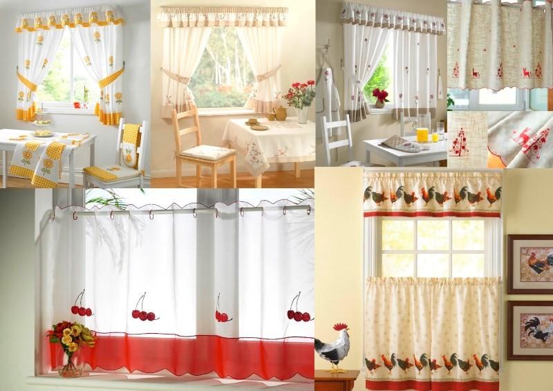 Варианты оформления окна на кухне в деревенском стиле