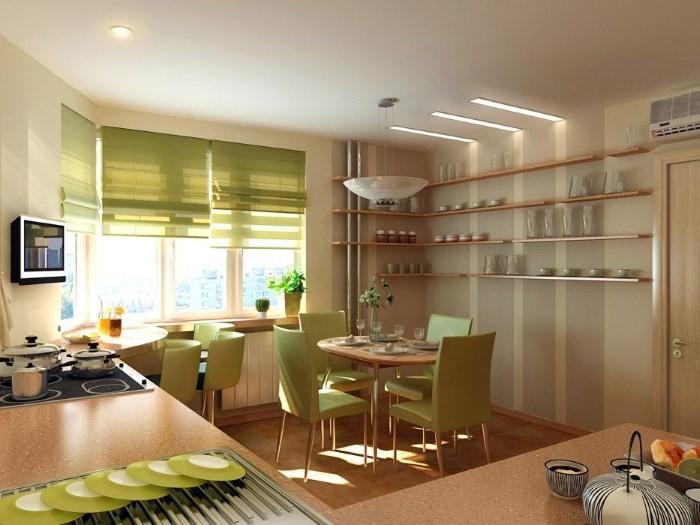 Оформление штор на кухне