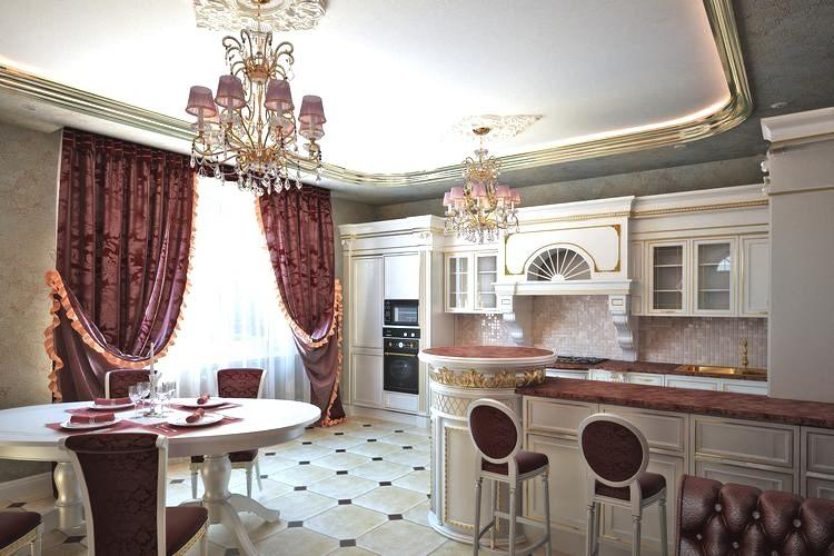 Классическая кухня с элементами роскоши