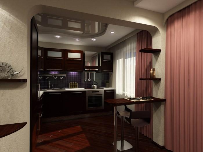 Перенос кухни в коридор