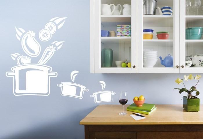 Вариант декора стены в кухне