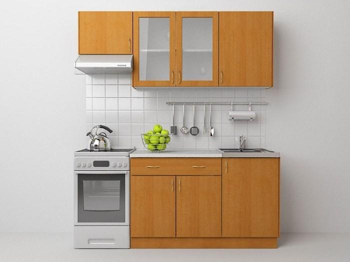 Вариант бюджетной кухни для дачи