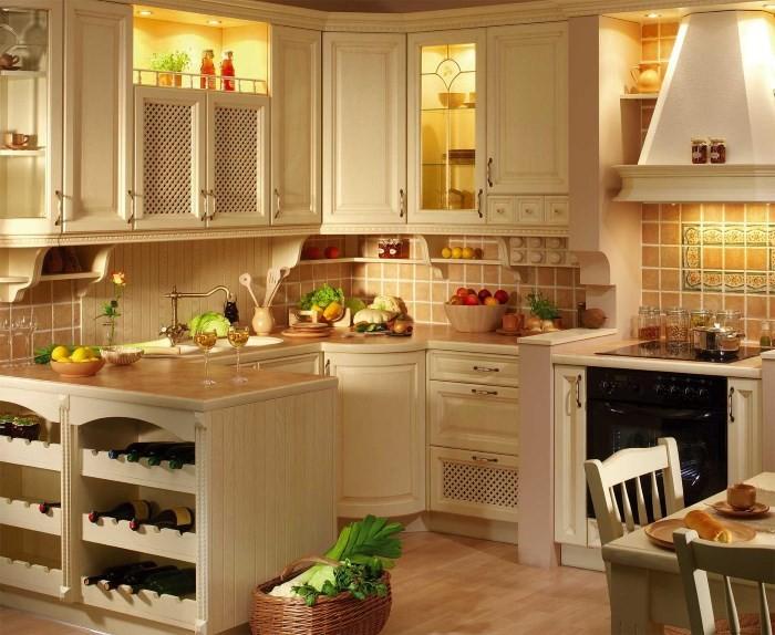 Кухня в деревенском доме