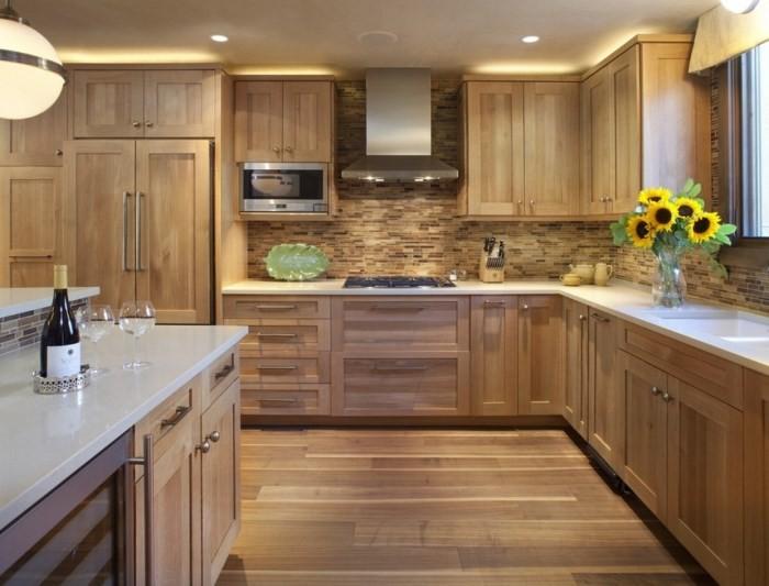 Кухонный гарнитур на дачной кухне