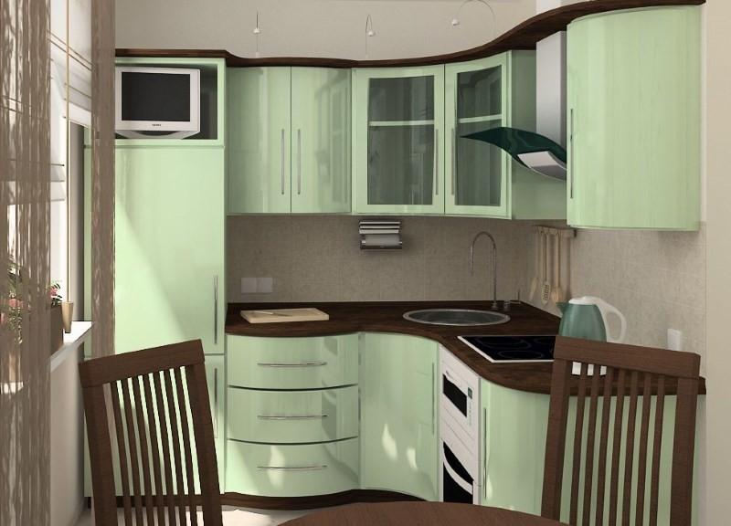 Идея ремонта и оформления интерьера в маленькой кухне