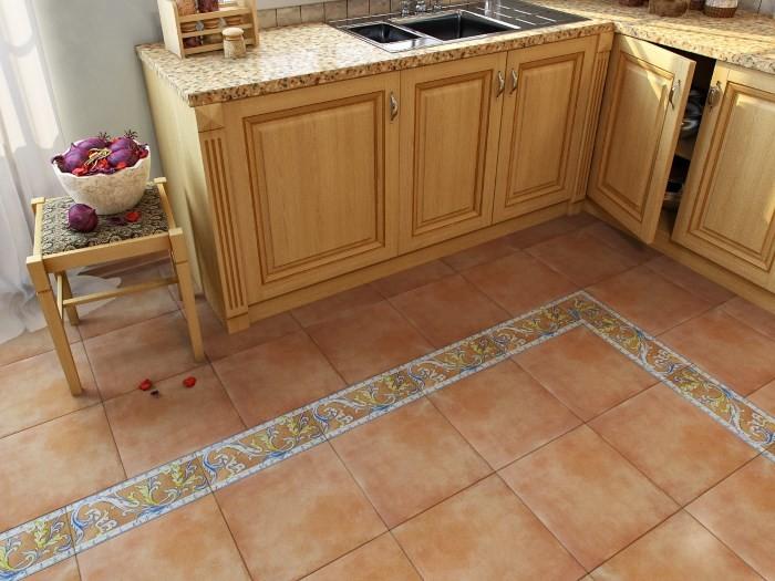 плитки на пол на кухне фото