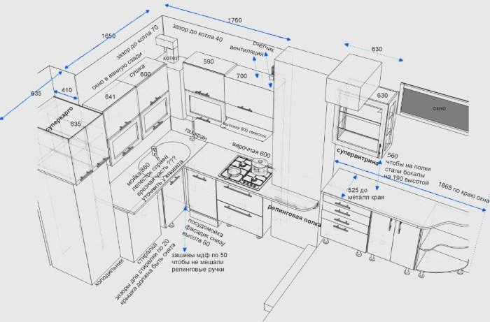 Пример проекта кухни