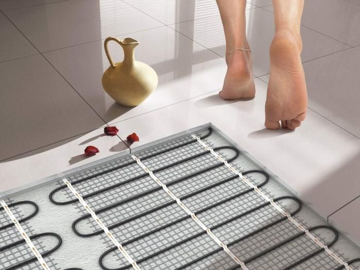Теплый пол на кухне под плитку своими руками