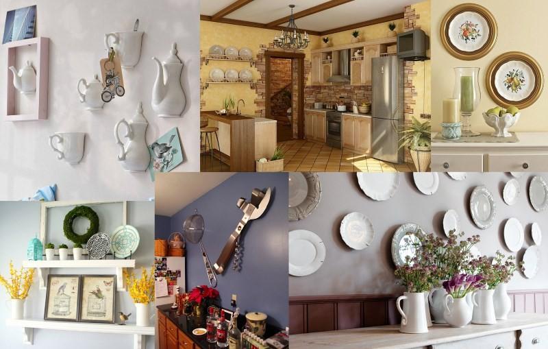 Украшенные стены на кухне своими руками
