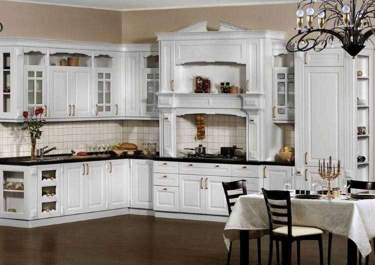 Белая кухня классика