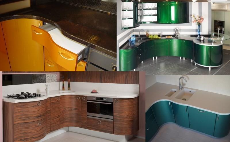 Кухни с радиусными фасадами