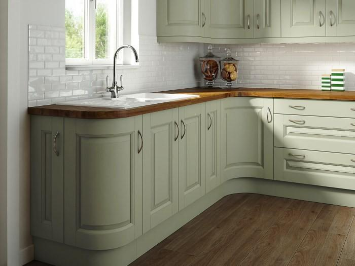 Кухонный гарнитур с гнутыми фасадами
