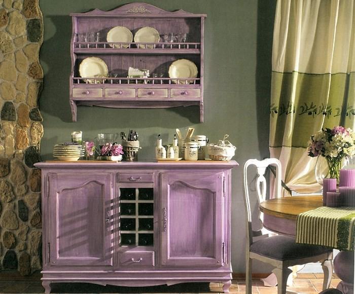 Мебель на кухне прованс