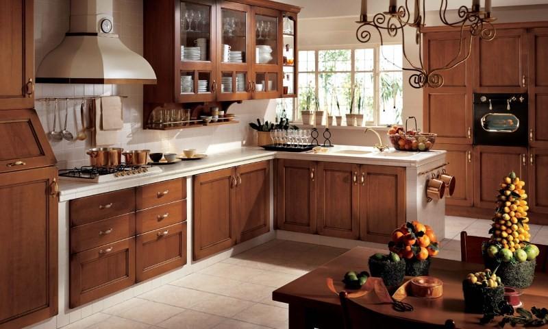 Мебель в стиле кантри на кухне