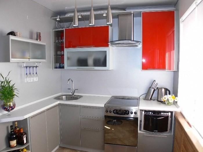 Расстановка мебели на кухне 6 кв. м