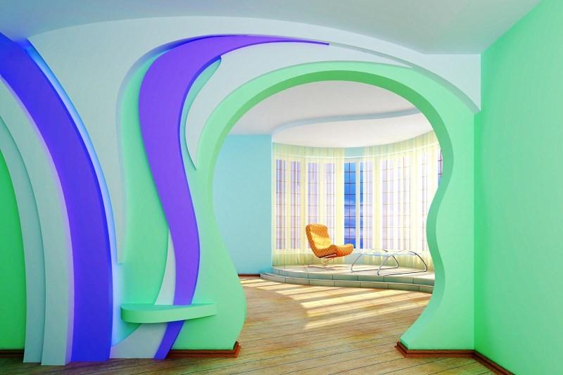 кухонные арки из гипсокартона фото