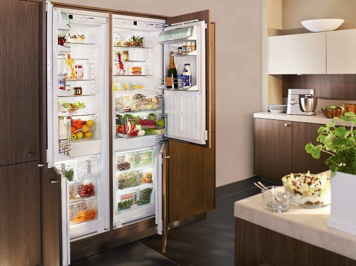 Двудверный бытовой холодильник
