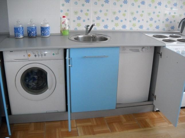 Шкаф для стиральной машины в кухонном гарнитуре