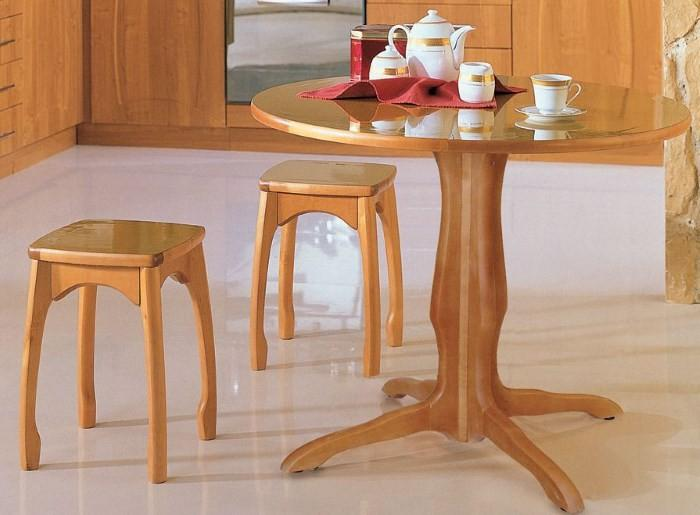 Кухонный стол с одной ножкой