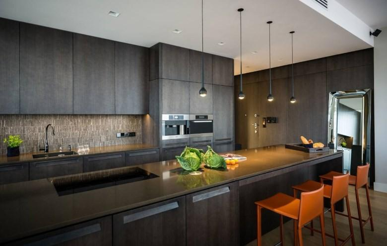 Освещение кухни хай тек