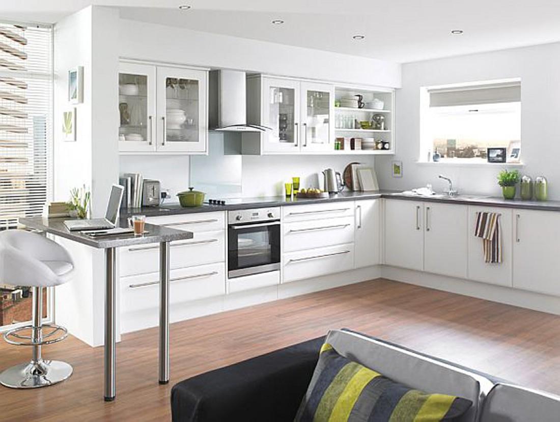 Кухни современный дизайн в белом цвете