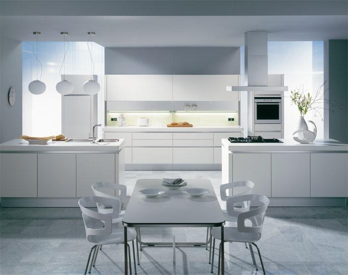 Интерьеры с белой кухней фото