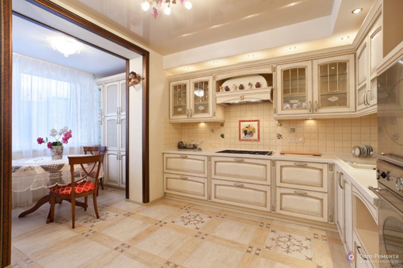 Кухня на лоджии дизайн: фото объединение балкона с кухней, у.