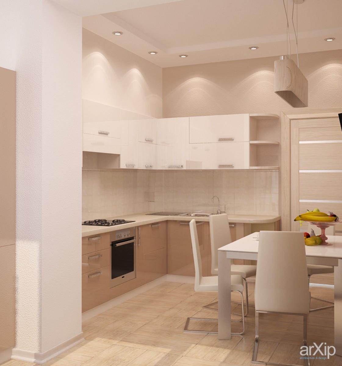 Дизайн кухни в кремовых тонах