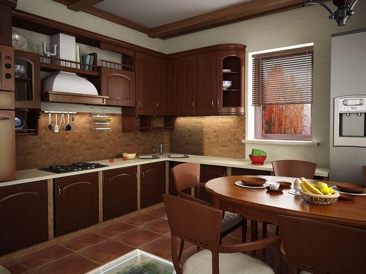 Интерьер дизайн обычной кухни