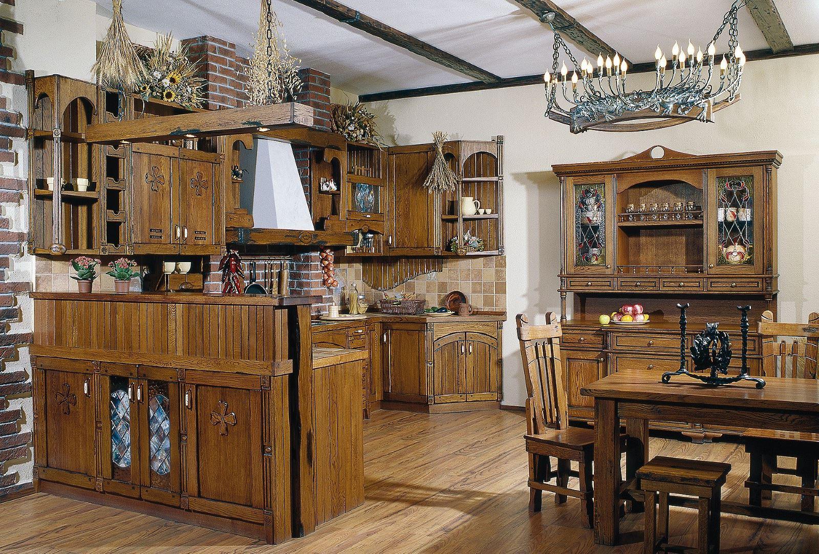 Деревенская кухня своими руками фото
