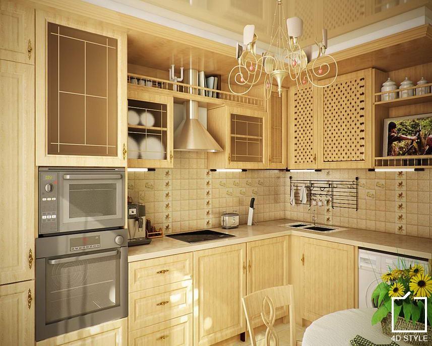 Дизайн кухни стиле кантри