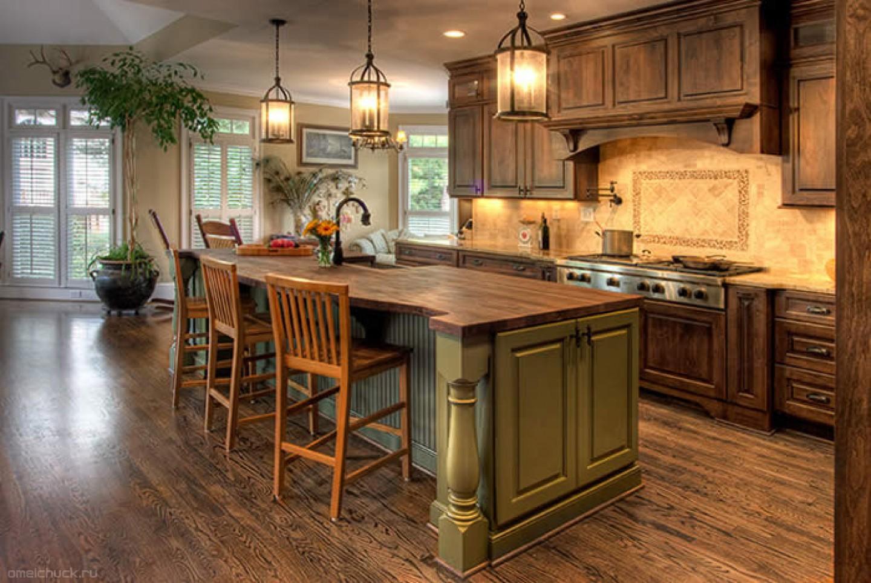 Кухня в деревенском стиле фото интерьер своими руками
