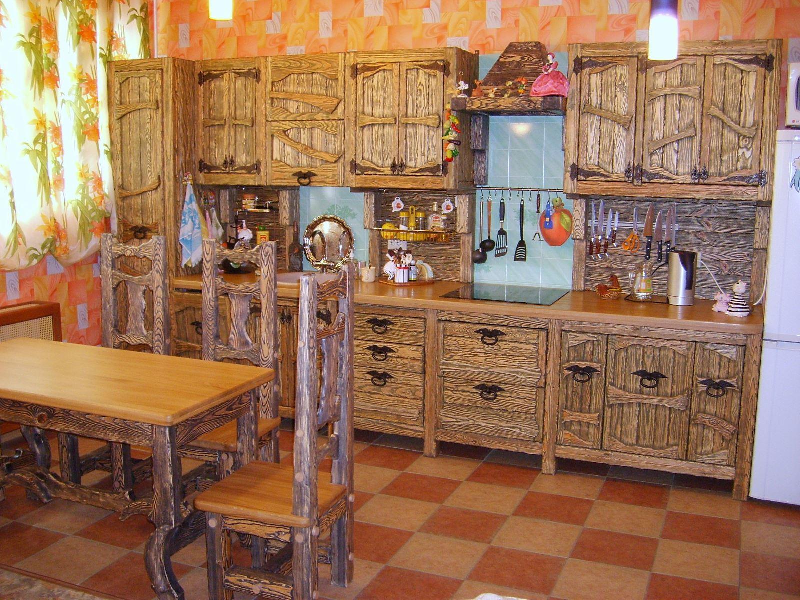 Интерьер кухни в стиле кантри своими руками