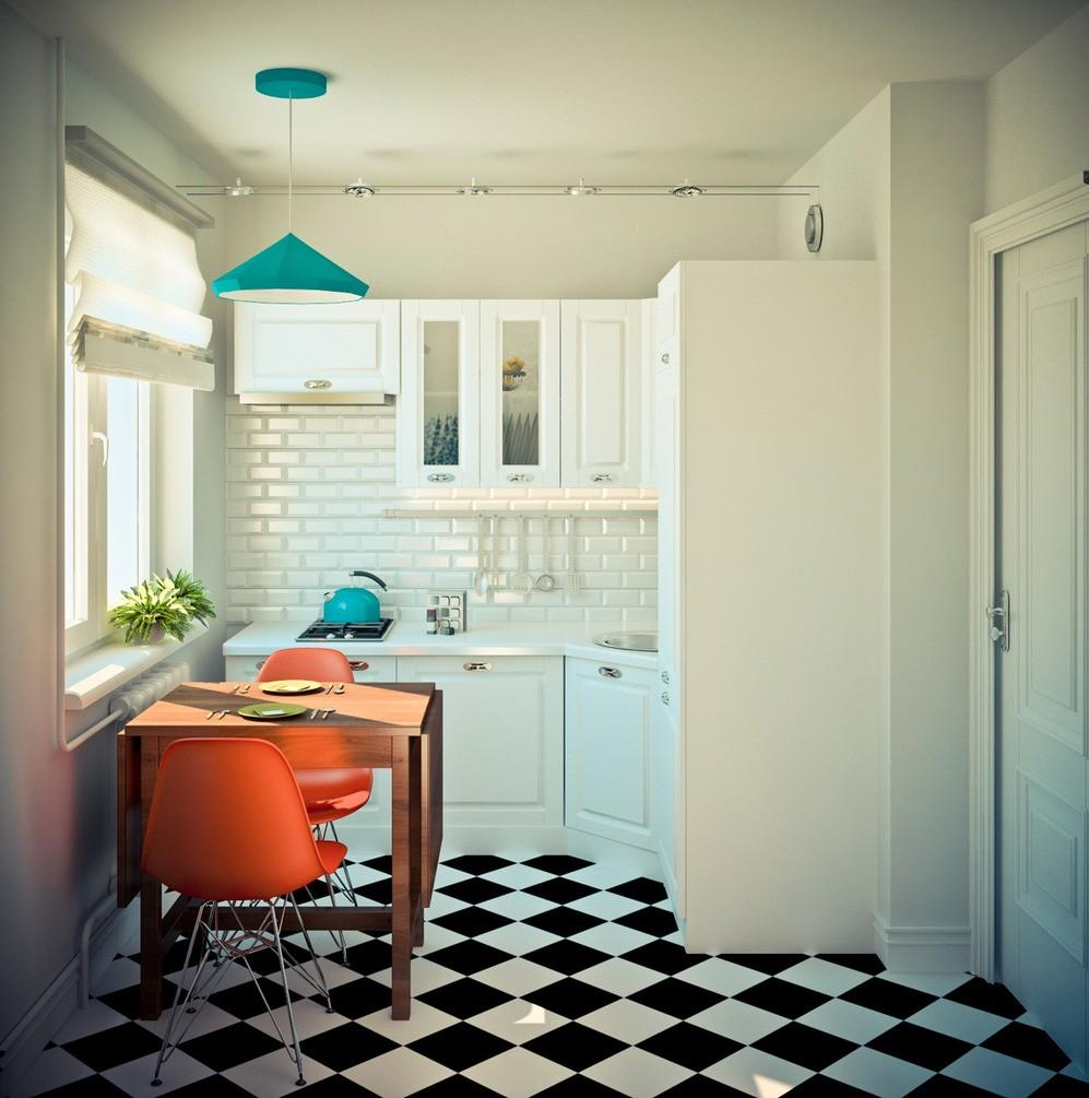 дизайн однокомнатной квартиры в стиле икеа