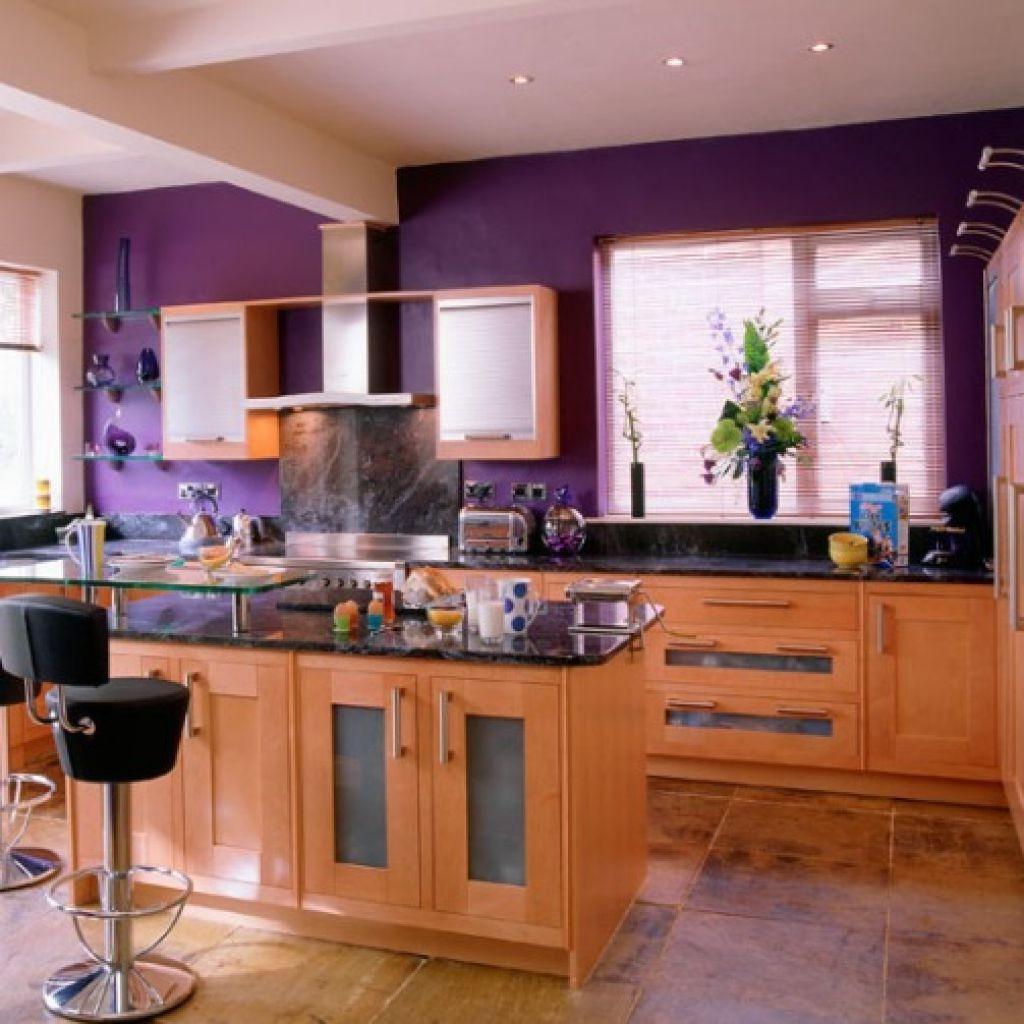 Сочетание цветов стен на кухне