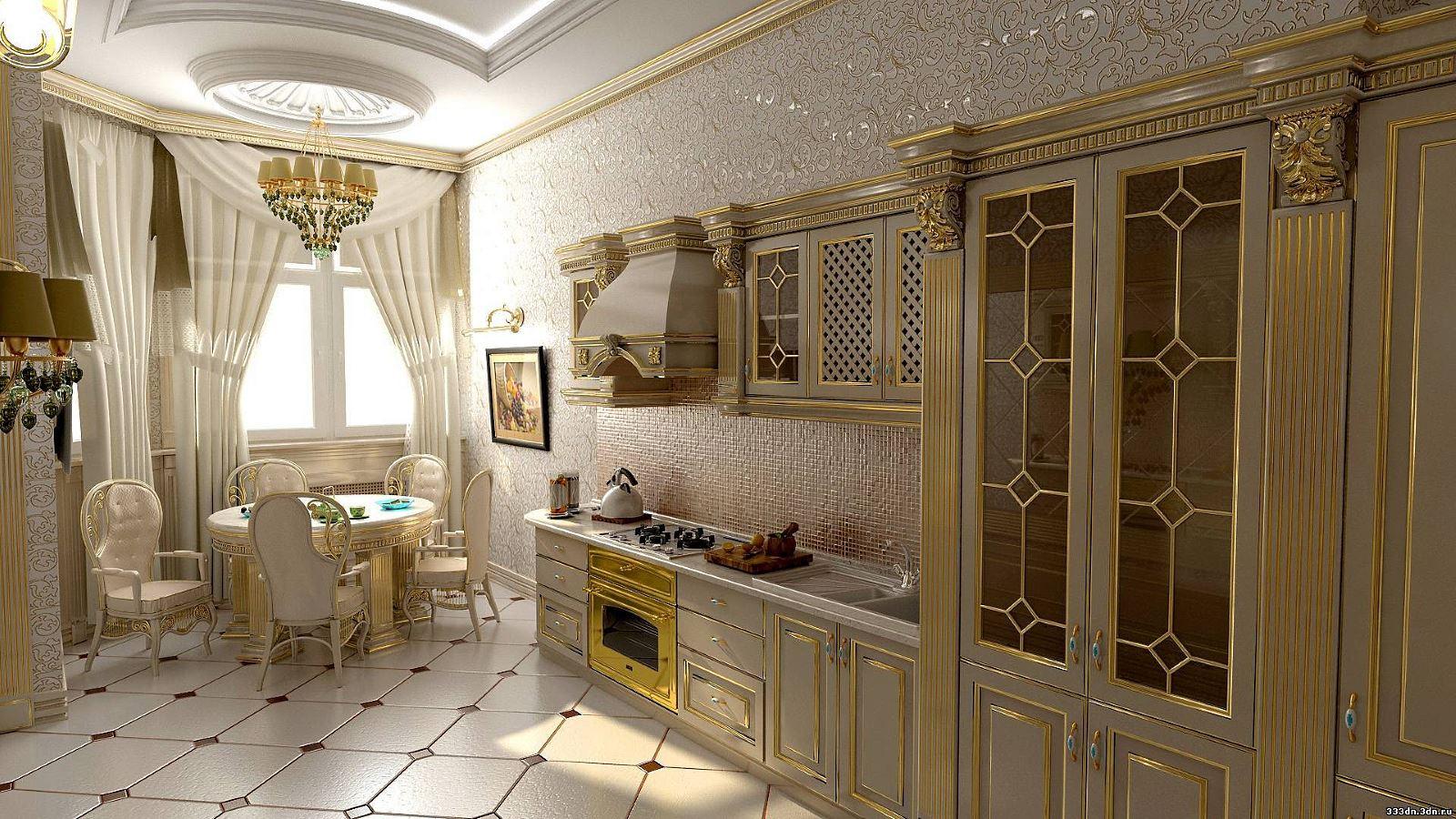 Классика в дизайне интерьера кухня