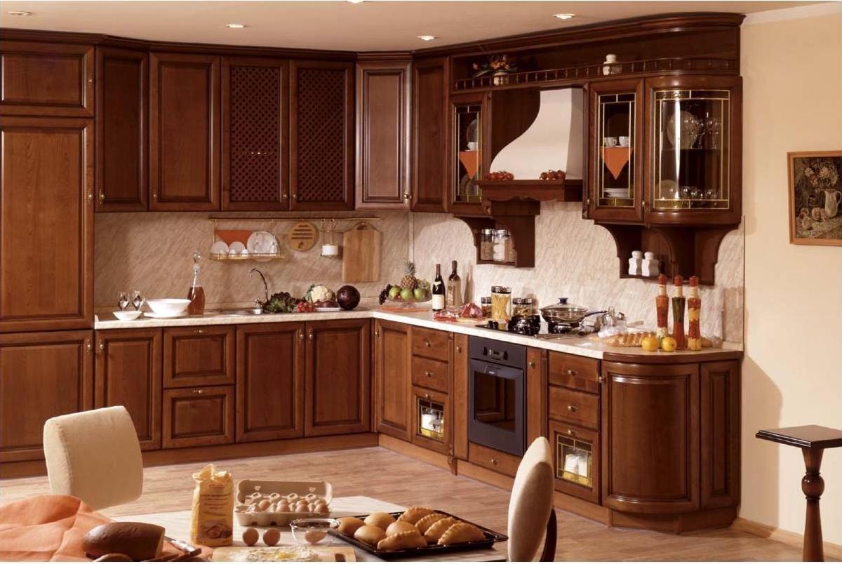 Кухни фото угловые классические в интерьере