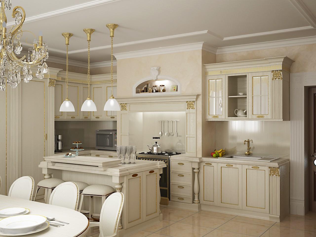 Кухни в стиле классика фото