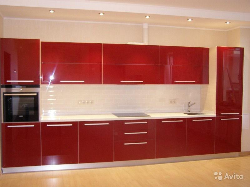 Кухни прямые с пеналом фото