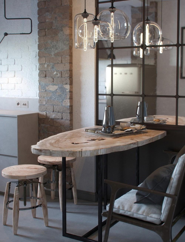 Кухонная мебель в стиле лофт своими руками 21