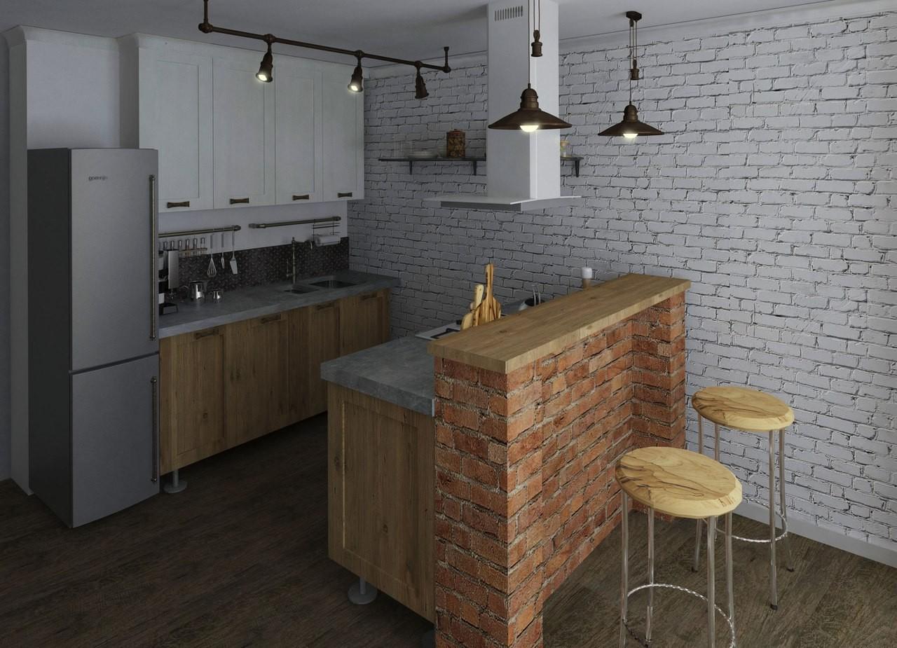 Кухонная мебель в стиле лофт своими руками 9